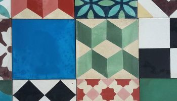 Old italian tiles from naples in maiolica 20×20 cms piastrelle